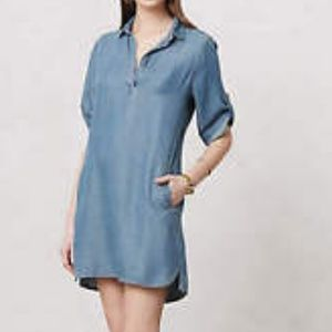 ANTHROPOLOGIE CLOTH & STONE JEAN DRESS SIZE L.